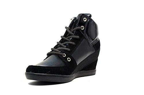 Versace Jeans sneaker donna zeppa interna medio alta colore nero E0VOBSA2 75332 898 nuova collezione Autunno Inverno 2016 2017