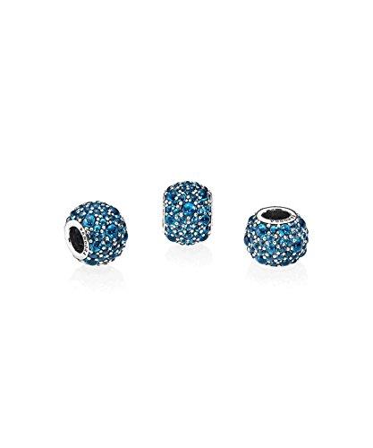 PANDORA - Charm Gouttelettes Scintillantes Bleu Vif Argent 925/1000 Pandora 791755NLB