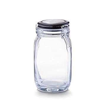 Großes Vorratsglas Mit Clip Lock Deckel 15 Liter Glas Farblos