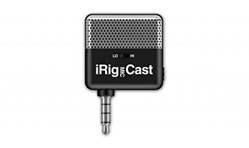 IK Multimedia iRig Mic Cast with Stereo Mini-Jack Headphone Output, Podcasting Mic for iPhone/iPod Touch/iPad/Android Devices (Multimedia Microphone)