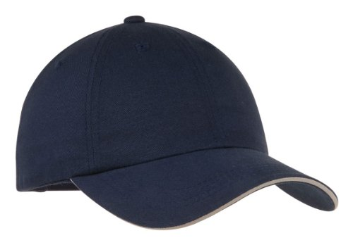 (Port Authority Signature C832 Reflective Sandwich Bill Cap - Navy/Reflective - OSFA )