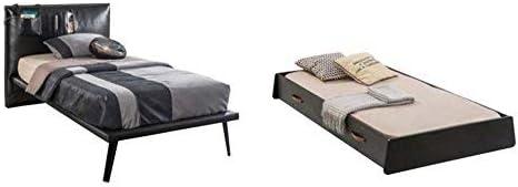 Cama individual doble con cajón extraíble con cama, 105 x 115 ...