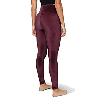 "Lululemon Wunder Lounge High-Rise Tight 28"" Velvet (Garnet, 10)"