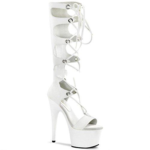 Pleaser - Zapatos de vestir para mujer blanco