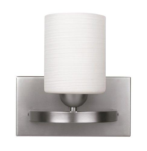 CANARM LTD. IVL370A01BPT Hampton 1 Bulb Vanity Light, Brushed Pewter