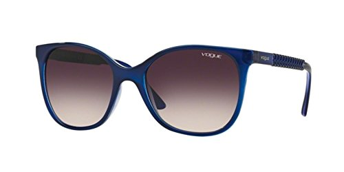 Vogue VO5032S Sunglasses 238436-54 - Top Dark Blue/violet Transp Frame, Pink Gradient - Frames Prices Vogue Glasses