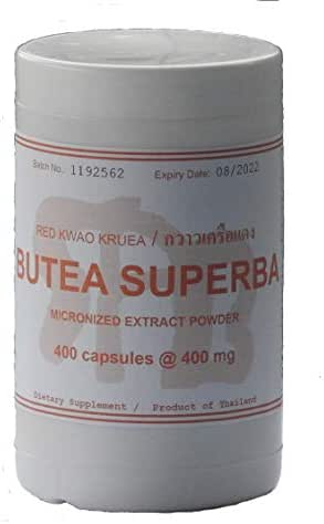 Tongkatali.org's Giant Size Butea Superba/Thai Ginseng Root Extract, 400 caps @ 400 mg