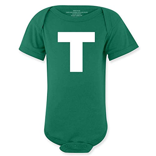 wintertee T Letter Halloween Costume Kids Baby Green -