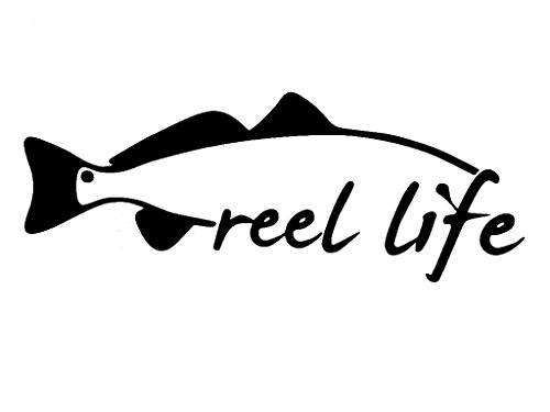 Bait Use Trout Fishing (Reel life fishing trout red fish snook bait rod window sticker vinyl decal)