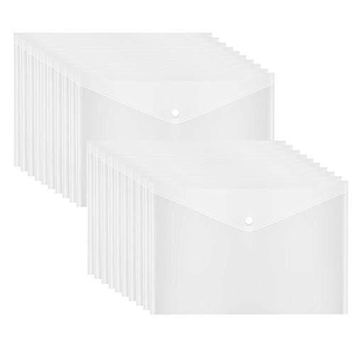 - Poly Envelope, Clear Plastic Envelope Folder with Button Closure, 20PCS Document Envelopes,US Letter / A4 Size - Gtlzlz