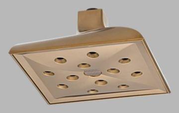 Brizo Virage Brushed Bronze Ceiling Raincan Showerhead