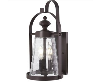 Minka Lavery Outdoor Wall Light 72622-615B Sycamore Trail Exterior Wall Lantern, 3-Light 180 Watts, Bronze