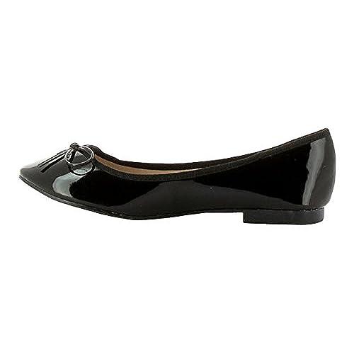Bella Patent Ballet Flats (US9.5/US10, Black) save more