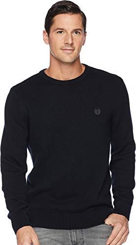 Chaps Men's Classic Fit Cotton Crewneck Sweater, Black, (Mens Cotton Crewneck Sweater)