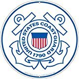 United States Coast Guard Logo Aluminum Sign Round 12