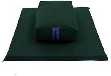 Meditation Yoga Cushion Rectangular Chakra 4 Anahata Green Xl Set Amazon Co Uk Sports Outdoors