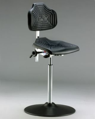 milagon-low-profile-cushioned-work-seat-assembly-mounted-on-17-inch-diameter-enamel-disc-base-with-p