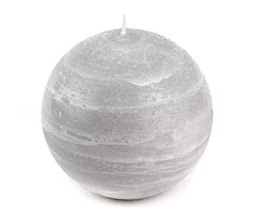 Nordic Candle - 4 Inch Ball Candle - Dove Gray Rustic Sphere - Unscented