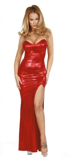Nom de Plume, Inc Sexy Stretch Shimmer Jessica Rabbit Gown Medium -