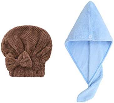 CQIANG 2傑李雅ドライヘアーキャップ女性吸水速乾性髪のタオルフード付きシャワーキャップかわいいロングヘアードライヘアータオルを拭いてください (Color : C, 款式Style : 2)
