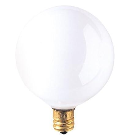 G16.5 Bulb Type Candelabra Base E12 Base 120V 12 Pack 2,500Hrs White 100 CRI 95 Lumens 2500K Bulbrite 391015-15W