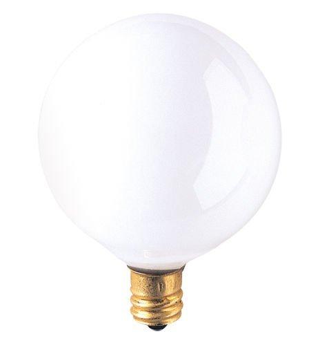 Pack Candelabra White Globe Lightbulb