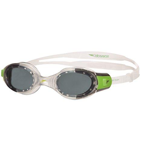 Speedo Unisex - Kinder Schwimmbrille Futura Biofuse, green/clear, one size, 8-012339317