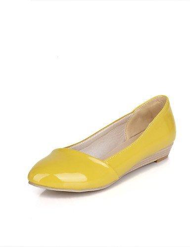 Chiusa Ufficio Casual Yellow Formale Ballerina Scarpe Vernice e Donna Nero Beige Piatto ShangYi Giallo Ballerine lavoro t0zwFxSq