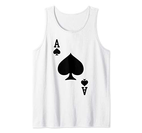 Ace of Spades - Playing Card Halloween Costume Tank Top ()
