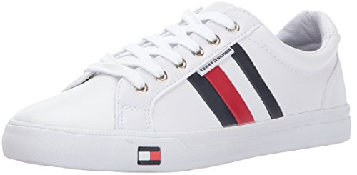Tommy Hilfiger Women's Lightz Sneaker, White, 8.5 Medium US