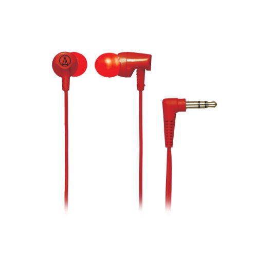 Audio Technica ATHCLR100RD In-Ear Headphones, Red