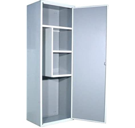 SecureBay - Armario escobero línea mar aluminio blanco porta escobas metálico metal 60 *Envío gratuito*: Amazon.es: Hogar