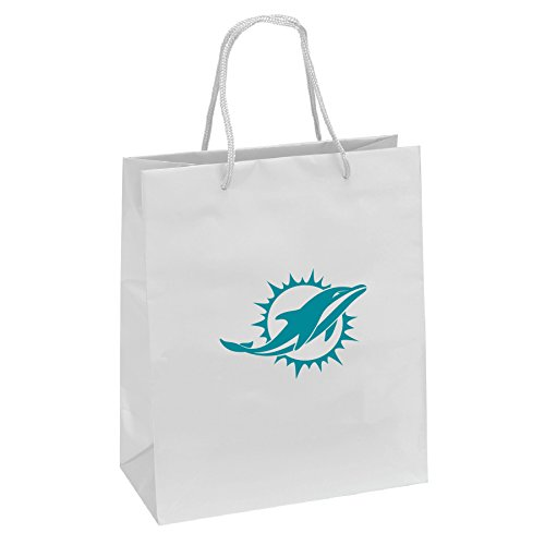 Pro Specialties Group NFL Miami Dolphins Gift Bag, White/Aqua, One - Specialties Bag Pro