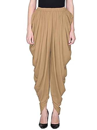 EPILOG Rayon Full Length Free Size Solid Plain Dhoti Pant For Women   Girls   Patiala Salwar For Women