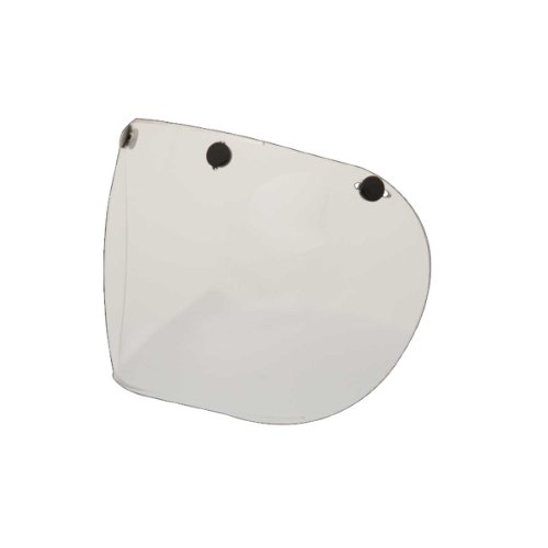 - Bell 3-Snap Retro Fixed Shield (Clear)