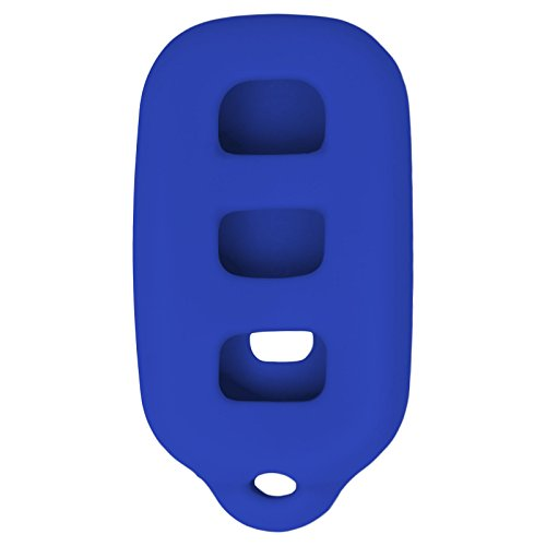Keyless2Go New Silicone Cover Protective Case for Remote Key Fobs with FCC GQ43VT14T HYQ12BBX HYQ1512Y HYQ12BAN - Blue