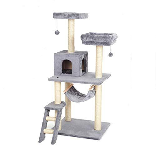FTFDTMY Small Cat Klettergerüst, Cat Scratch Column Kratzbaum Einteilige Cat Villa Indoor Pet Toy Katzensprungplattform…