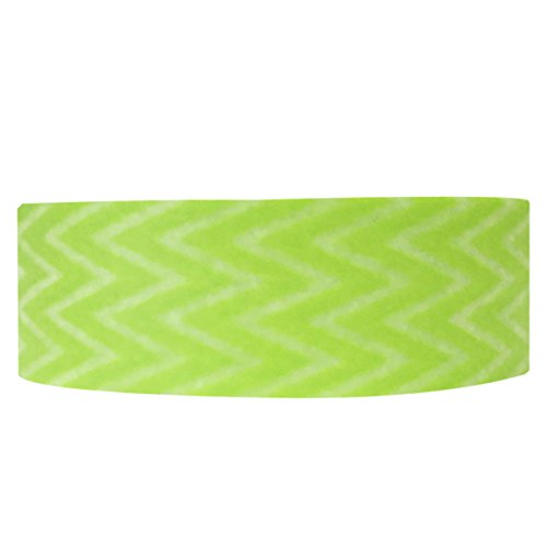Wrapables A68166 Striped Japanese Washi Masking Tape, Zigzag, Lime Green