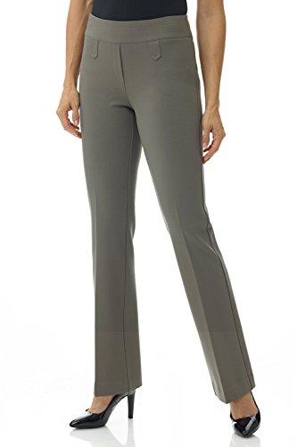 Rekucci Women's Secret Figure Pull-On Knit Bootcut Pant w/Tummy Control (4,Taupe) (Cathy Daniels Pull)