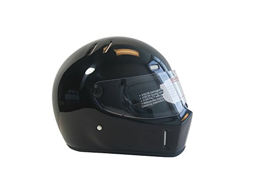 CRG Sports ATV Motocross Motorcycle Scooter Full-Face Fiberglass Helmet DOT Certified ATV-1 Glossy Black Size Large by CRG Sports (Image #2)