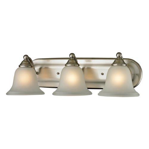 Cornerstone Lighting 5503BB/20 Shelburne 3 Light Bath bar, Brushed Nickel (1 Shelburne 1 Light)