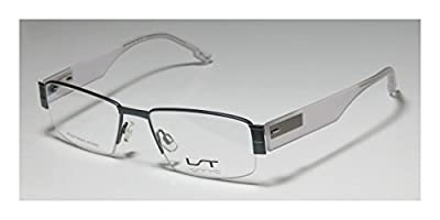 Lightec 7023l Mens/Womens Prescription Ready Comfortable Designer Half-rim Flexible Hinges Eyeglasses/Eye Glasses
