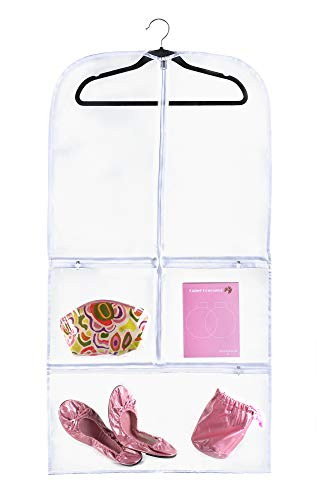 """Clear Gusseted Suit Garment Bag (20"""" x 38"""" x 3) Dance, Dress, and Costumes 