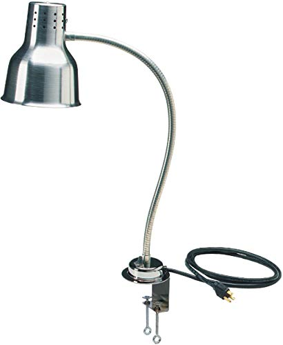 Carlisle HL8185C00 FlexiGlow Aluminum Single Arm Heat Lamp with Clamp, 4