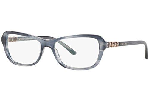Bulgari Montures de lunettes 4096B Pour Femme Black, 52mm 5342: Striped Grey