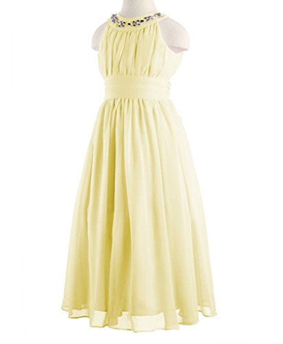 Happy Rose Chiffon Long Junior Bridesmaid Dress Yellow 16 by Happy Rose (Image #3)