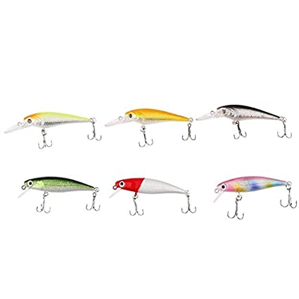 2.75/'/' Minnow Fishing Lure Quality Hard Bait With Fishing Hook Tackle Crankbait
