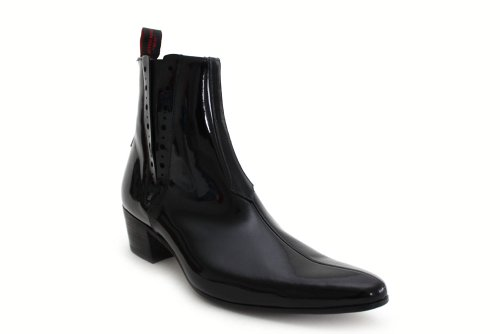 Jeffery West Muse G847Ap - Bottines Chelsea à talon cubain - cuir verni - homme - noir