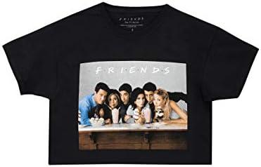 Friends Camiseta de Crop de Manga Corta para Niñas Negro 9-11 Años: Amazon.es: Ropa y accesorios