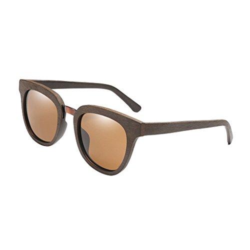 Polarisées en MagiDeal Cadre Femmes Hommes brun foncé Soleil pour Bois 1 Lunettes paire Protection de wRf0Xq